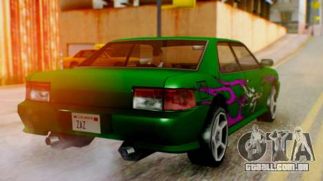 Sultan Винил из need For Speed Underground 2 para GTA San Andreas esquerda vista