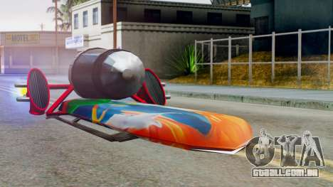 Flying Hovercraft New Skin para GTA San Andreas traseira esquerda vista