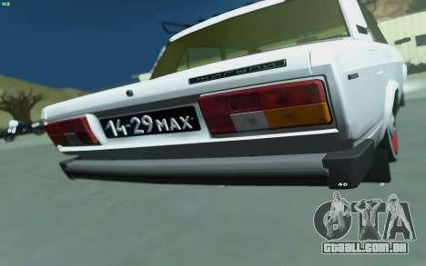 VAZ 2105 para GTA San Andreas para GTA San Andreas traseira esquerda vista
