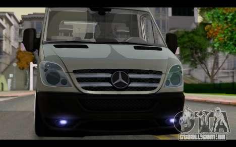 Mercedes-Benz Sprinter para GTA San Andreas vista traseira