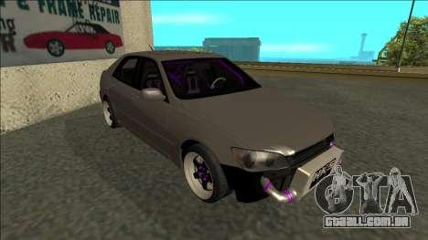 Lexus IS300 Drift para GTA San Andreas esquerda vista