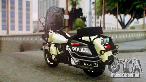 New Police Bike para GTA San Andreas esquerda vista