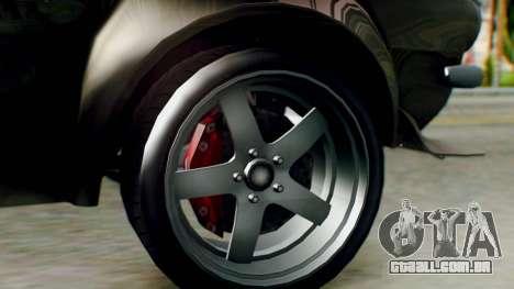 GTA 5 Imponte Nightshade IVF para GTA San Andreas traseira esquerda vista