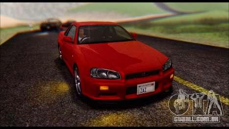 Nissan Skyline R-34 GT-R V-spec 1999 No Dirt para GTA San Andreas vista direita