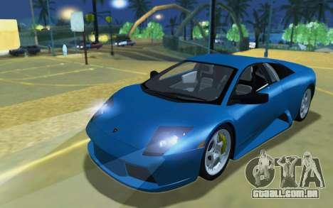 Lamborghini Murcielago 2005 para GTA San Andreas esquerda vista