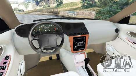 GTA 5 Daewoo Leganza US 2001 traseira direita vista lateral