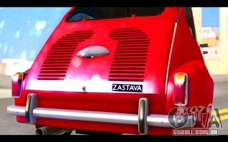 Zastava 750 - The Cars Movie para GTA San Andreas vista interior