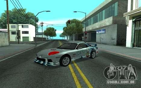 Mazda RX-7 Tunable para GTA San Andreas traseira esquerda vista