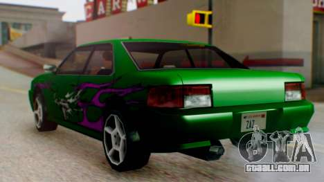 Sultan Винил из need For Speed Underground 2 para GTA San Andreas traseira esquerda vista