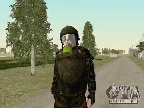 Os soldados russos na máscara de gás para GTA San Andreas por diante tela