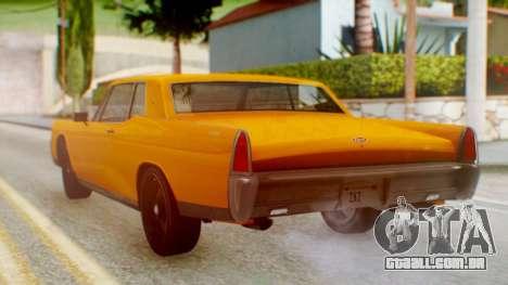 GTA 5 Vapid Chino Tunable para GTA San Andreas esquerda vista