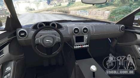 GTA 5 Jaguar F-Type 2014 traseira direita vista lateral