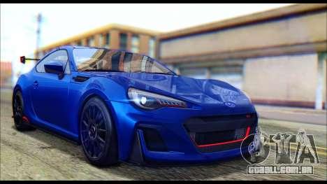 Subaru BRZ STi Concept 2016 para GTA San Andreas traseira esquerda vista