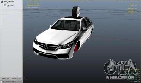GTA 5 Mercedes-Benz E63 AMG v2.1 vista lateral direita