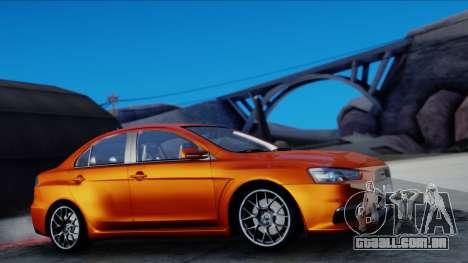 Mitsubishi Lancer Evolution X Tunable New PJ para GTA San Andreas