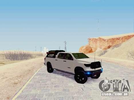 Toyota Tundra 2012 Semi-Off-road para GTA San Andreas esquerda vista