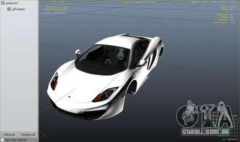 2011 McLaren MP4 12C para GTA 5