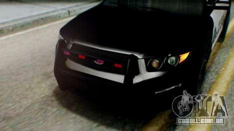GTA 5 Police SF para GTA San Andreas vista traseira