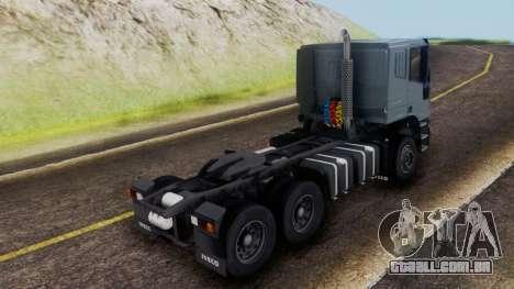 Iveco EuroTech v2.0 Cab Low para GTA San Andreas esquerda vista