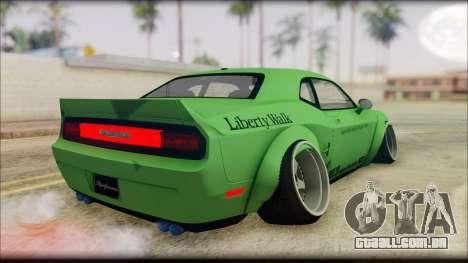 Dodge Challenger LB Perfomance para GTA San Andreas esquerda vista
