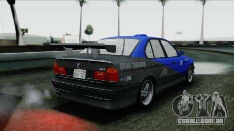BMW M5 E34 US-spec 1994 (Full Tunable) para GTA San Andreas vista superior