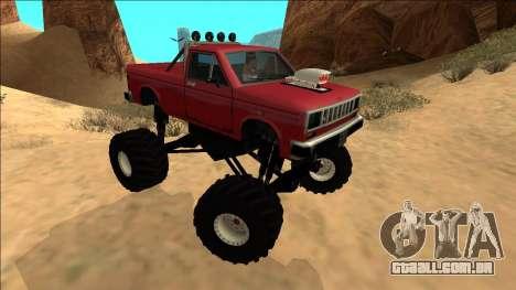 Bobcat Monster Truck para GTA San Andreas vista direita