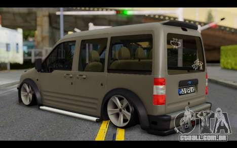 Ford Connect Rizeli para GTA San Andreas esquerda vista