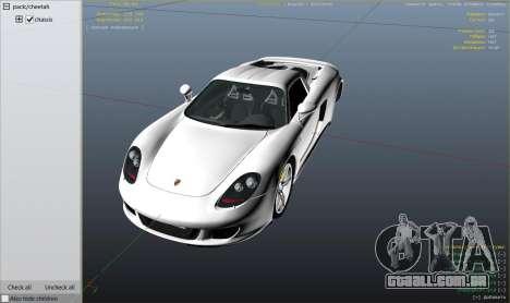 GTA 5 Porsche Carrera GT 2.0 vista lateral direita