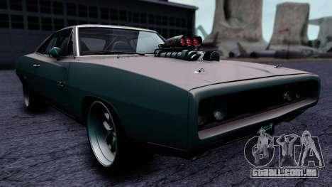 Dodge Charger RT 1970 FnF7 para GTA San Andreas vista direita