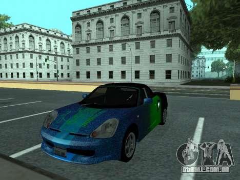 Toyota MR-S Tunable para vista lateral GTA San Andreas