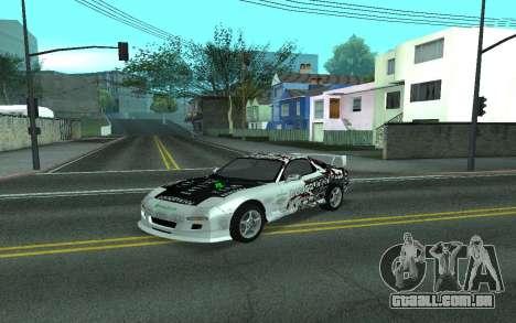 Mazda RX-7 Tunable para GTA San Andreas vista traseira
