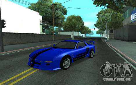 Mazda RX-7 Tunable para vista lateral GTA San Andreas