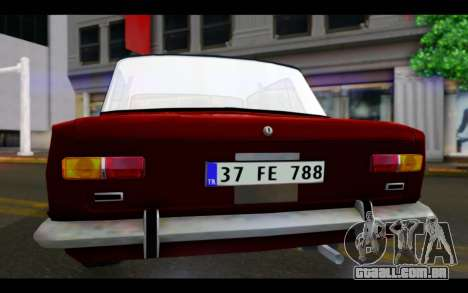 Fiat 124 para GTA San Andreas vista interior