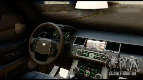 Range Rover Sport 2012 para GTA San Andreas vista interior