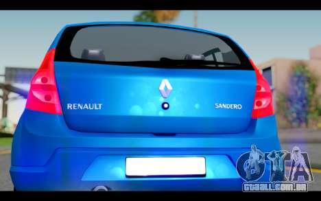 Renault Sandero para GTA San Andreas vista interior