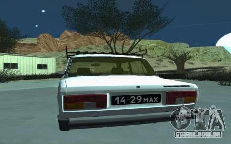 VAZ 2105 para GTA San Andreas para GTA San Andreas vista direita
