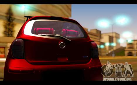 Nissan March 2011 Hellaflush para GTA San Andreas vista interior