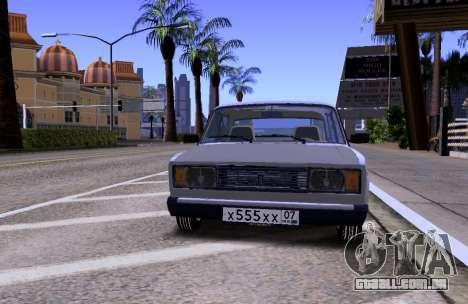 VAZ 2105 KBR para GTA San Andreas vista interior