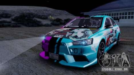 Mitsubishi Lancer Evolution X Tunable New PJ para GTA San Andreas vista superior