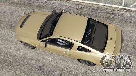 GTA 5 Ford Mustang Shelby GT500 2013 v2.0 voltar vista