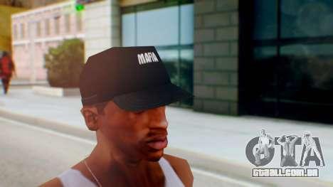 Mafia Cap Black White para GTA San Andreas segunda tela