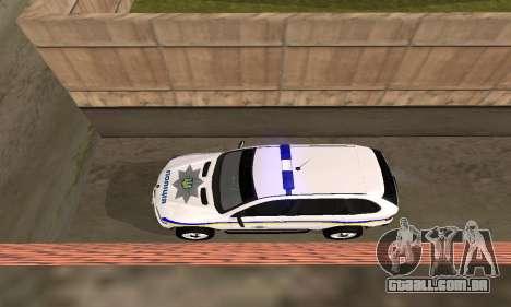 BMW X5 Ukranian Police para GTA San Andreas vista interior