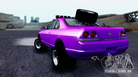 Nissan Skyline R33 Rusty Rebel para GTA San Andreas esquerda vista