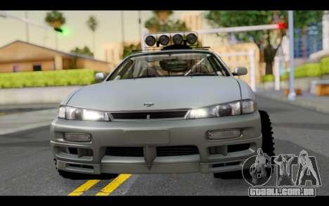 Nissan Silvia S14 Rusty Rebel para GTA San Andreas vista traseira