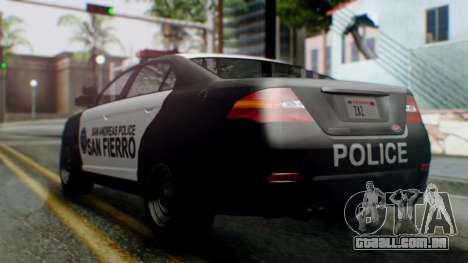 GTA 5 Police SF para GTA San Andreas esquerda vista