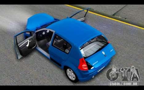 Renault Sandero para GTA San Andreas vista superior