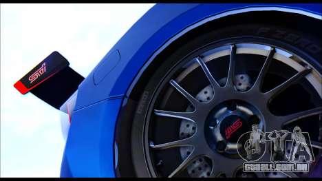 Subaru BRZ STi Concept 2016 para GTA San Andreas vista direita