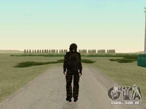 Os soldados russos na máscara de gás para GTA San Andreas terceira tela