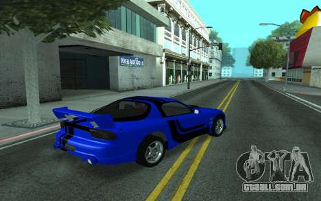 Mazda RX-7 Tunable para GTA San Andreas vista superior