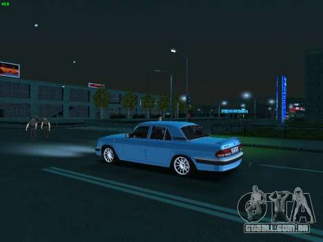 GAZ 3110 Volga para GTA San Andreas vista interior
